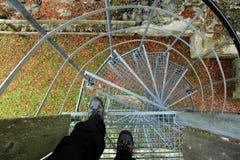 Miedo de alturas Fotografía de archivo libre de regalías