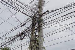 Miedo de los electricistas Imagen de archivo libre de regalías