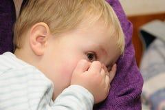 Miedo de los niños Fotografía de archivo