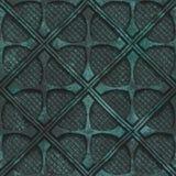 Miedziana bezszwowa tekstura z geometrycznym wzorem na tlenkowym kruszcowym tle royalty ilustracja