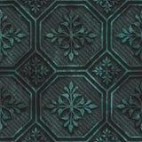 Miedziana bezszwowa tekstura z geometrycznym wzorem na tlenkowym kruszcowym tle ilustracji