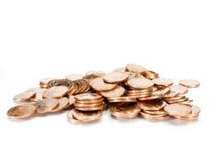 Miedziane monety Obraz Royalty Free