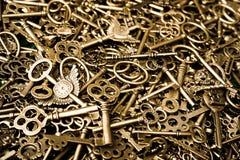 Miedziani klucze Zdjęcia Royalty Free