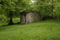 Miedzianki wioski stary cmentarz Polska Obraz Royalty Free