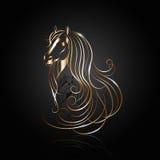 Miedziany abstrakcjonistyczny koń Zdjęcie Royalty Free