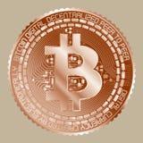 Miedziany Bitcoin Fotografia Stock
