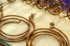 Miedziany Cewkowaty Grzejny element dla Elektrycznego Wodnego nagrzewacza, Elektryczny Wodny bojler fotografia royalty free