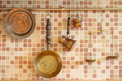 Miedziany cookware Fotografia Stock