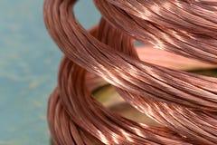 Miedziany drut, pojęcie przemysł surowi materiały obraz royalty free