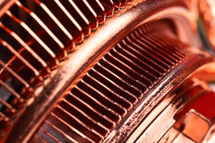 Miedziany jednostki centralnej cooler obrazy stock