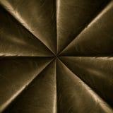 Miedziany promieniowy gwiazdowy wzór Zdjęcia Royalty Free