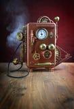 Miedziany telefon. fotografia stock