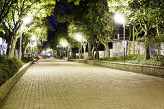 Miedzymorze, night view of the famous promenade Stock Image