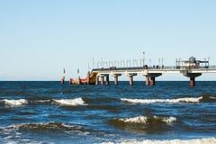 Miedzyzdroje Pier at the seaside Stock Image