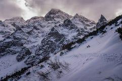 Mieguszowiecki szczyty i Mnich w zimy scenerii wysokie tatras Zdjęcie Royalty Free