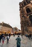 Miejsca De Los angeles Cathedrale Strasburscy ludzie Obraz Stock