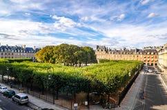 Miejsca des Vosgues w Paryż zdjęcia royalty free