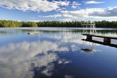 miejsca jeziorny dopłynięcie Zdjęcie Stock