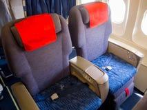 Miejsca klasa business w kabinowym samolocie Fotografia Royalty Free