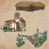 Miejsca nad architektura - wręcza patroszoną wektor paczkę Fotografia Royalty Free
