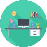 Miejsca pracy mieszkania ikona Zdjęcie Royalty Free