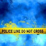 Miejsca przestępstwa dochodzenia abstrakt Zdjęcie Royalty Free