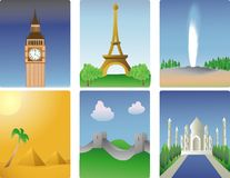 miejsca przeznaczenia światu. Zdjęcie Royalty Free