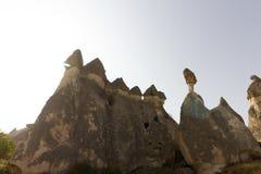 Miejsca publicznego Goreme na wolnym powietrzu Cappadocia muzealne Indycze rockowe formacje obraz stock