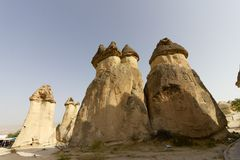 Miejsca publicznego Goreme na wolnym powietrzu Cappadocia muzealne Indycze rockowe formacje zdjęcie stock