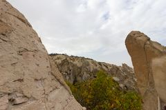 Miejsca publicznego Goreme na wolnym powietrzu Cappadocia muzealne Indycze rockowe formacje obraz royalty free