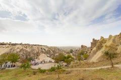 Miejsca publicznego Goreme na wolnym powietrzu Cappadocia muzealne Indycze rockowe formacje zdjęcia stock