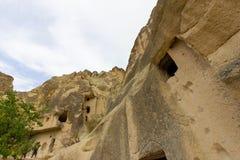 Miejsca publicznego Goreme na wolnym powietrzu Cappadocia muzealne Indycze rockowe formacje obrazy royalty free