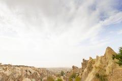 Miejsca publicznego Goreme na wolnym powietrzu Cappadocia muzealne Indycze rockowe formacje fotografia stock