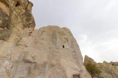 Miejsca publicznego Goreme na wolnym powietrzu Cappadocia muzealne Indycze rockowe formacje zdjęcie royalty free