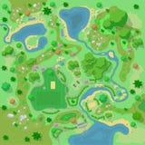 Miejsca ulepszenia turysta i krajobraz obozujemy w lasowym Odgórnym widoku ilustracji