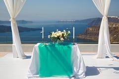 Miejsce dla ślubnego świętowania Fotografia Royalty Free