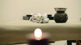 Miejsce dla relaksu - masażu stół zbiory wideo