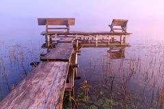 Miejsce dla relaksuje Litwinu krajobraz Zdjęcie Royalty Free