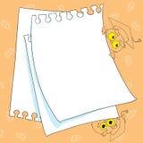 Miejsce dla teksta - ramy na szkolnej kreskówki sowy tła ilustraci Zdjęcie Royalty Free