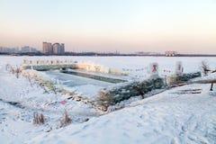 MIEJSCE DLA zimy dopłynięcia Fotografia Stock