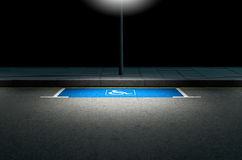 Miejsce Do Parkowania paraplegiczka Zdjęcia Stock