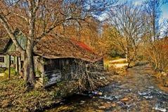 miejsce domowa stara rzeka Obrazy Royalty Free