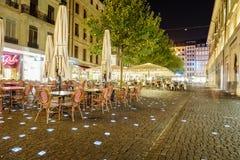 Miejsce Du Molard w Genewa, Szwajcaria Fotografia Royalty Free