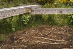 Miejsce egzekucja przy Culloden, Szkocja fotografia royalty free
