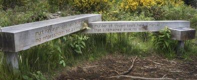 Miejsce egzekucja przy Culloden, Szkocja obrazy stock