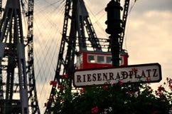 Miejsce ferris toczy wewnątrz Vienna zdjęcie royalty free