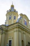 Miejsce interes miasto St Petersburg katedra forteca apostołowie Pyotr i Pavel Zdjęcia Stock