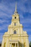 Miejsce interes miasto St Petersburg katedra forteca apostołowie Pyotr i Pavel Zdjęcia Royalty Free
