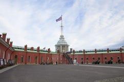 Miejsce interes miasto St Petersburg militarny dziejowy muzeum artyleria Zdjęcie Stock