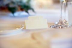 Miejsce karta na stole Obrazy Royalty Free